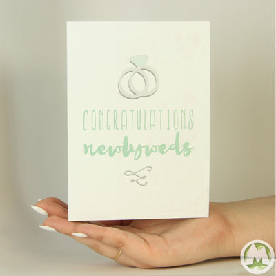Congratulations Newlyweds Funny Greeting Card MemoryTag Greeting Cards-Greeting Card-MemoryTag Greeting Cards