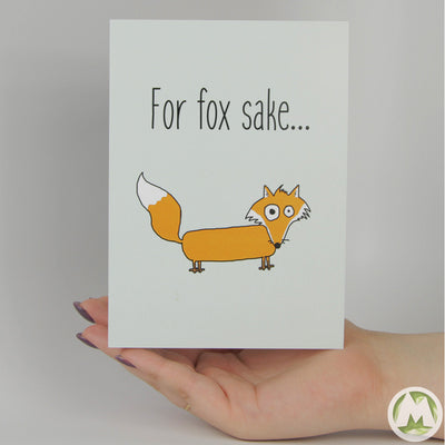 For Fox Sake Funny Greeting Card MemoryTag Greeting Cards-Greeting Card-MemoryTag Greeting Cards