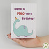 Have a DINO-MITE Birthday Funny Greeting Card MemoryTag Greeting Cards-Greeting Card-MemoryTag Greeting Cards