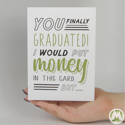 I Would Put Money in This Card Funny Greeting Card MemoryTag Greeting Cards-Greeting Card-MemoryTag Greeting Cards