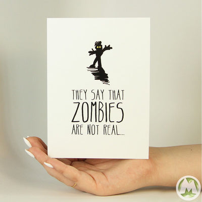 If Zombies aren't Real Funny Greeting Card MemoryTag Greeting Cards-Greeting Card-MemoryTag Greeting Cards