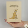 Just Hoppin' By… Funny Greeting Card MemoryTag Greeting Cards-Greeting Card-MemoryTag Greeting Cards