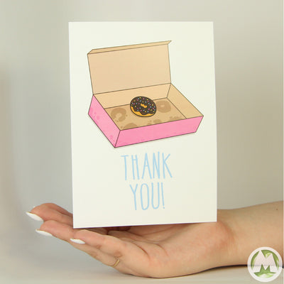 Last Donut Thank You Funny Greeting Card MemoryTag Greeting Cards-Greeting Card-MemoryTag Greeting Cards