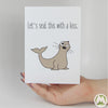 Let's Seal This With a Kiss Funny Greeting Card MemoryTag Greeting Cards-Greeting Card-MemoryTag Greeting Cards
