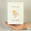 Love You To A Point Cupid Funny Greeting Card MemoryTag Greeting Cards-Greeting Card-MemoryTag Greeting Cards