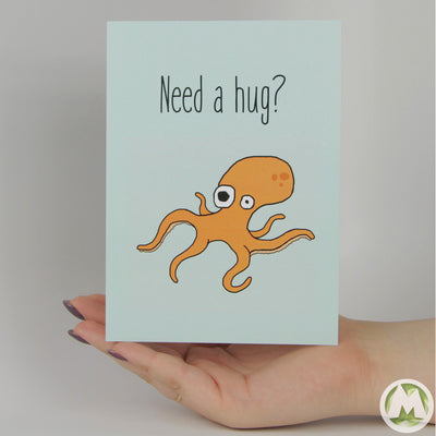 Need a Hug? Funny Greeting Card MemoryTag Greeting Cards-Greeting Card-MemoryTag Greeting Cards