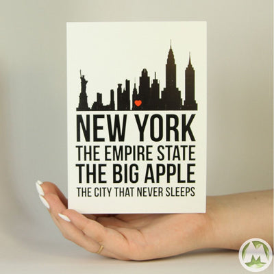 NYC Funny Greeting Card MemoryTag Greeting Cards-Greeting Card-MemoryTag Greeting Cards