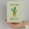 Sorry For Being Such a Prick Funny Greeting Card MemoryTag Greeting Cards-Greeting Card-MemoryTag Greeting Cards