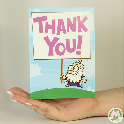 Thank You Guy Funny Greeting Card MemoryTag Greeting Cards-Greeting Card-MemoryTag Greeting Cards