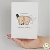 Toast To The Happy Couple Funny Greeting Card MemoryTag Greeting Cards-Greeting Card-MemoryTag Greeting Cards