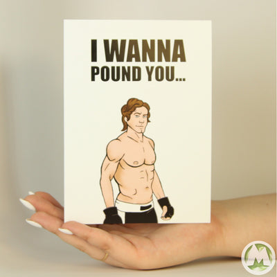 Urijah Faber Pound You Funny Greeting Card MemoryTag Greeting Cards-Greeting Card-MemoryTag Greeting Cards