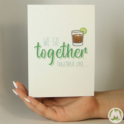 We Go Together Like... Funny Greeting Card MemoryTag Greeting Cards-Greeting Card-MemoryTag Greeting Cards