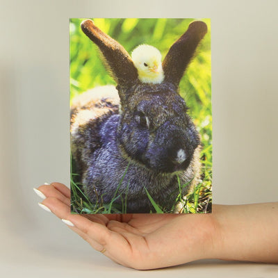 Yellow Chick and Bunny-Greeting Card-MemoryTag Greeting Cards