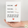 Your Smile, Your Smell Funny Greeting Card MemoryTag Greeting Cards-Greeting Card-MemoryTag Greeting Cards