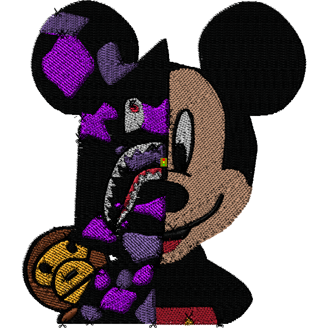 Gangster Mickey Embroidered Patch - The Hat Plug