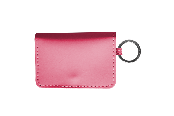 Jon Hart ID Wallet #454 All Leather Shown in Hot Pink