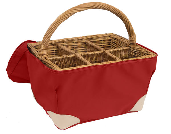 Jon Hart Bottle Basket #615 Shown in Red