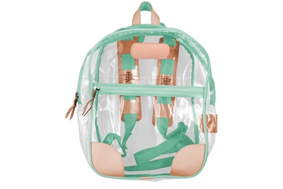 Jon Hart Design Clear Backpack #910 in Mint