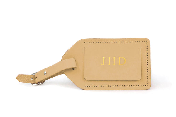 Jon Hart Luggage Tag #911 Shown in Natural