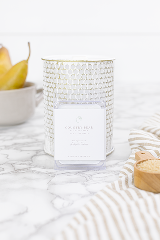 Country Pear by Cotton Stem Wax Melt