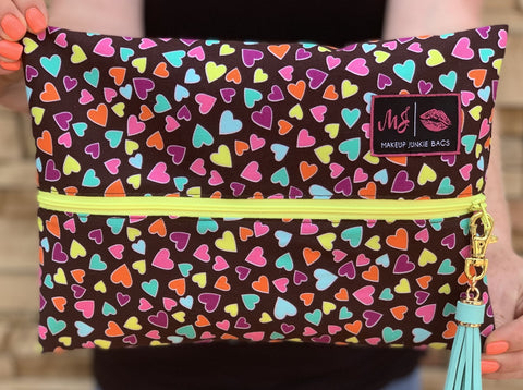Makeup Junkie Bags - Happy Hearts