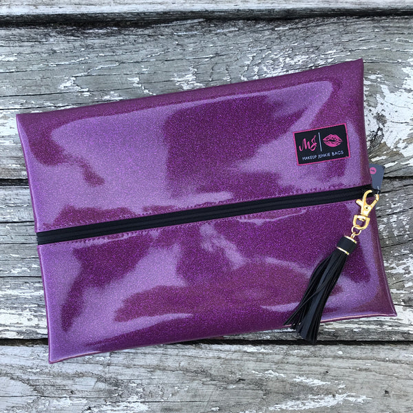 Makeup Junkie Bags - Glitter Orchid