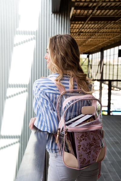 Jon Hart Design Clear Backpack #910 in Rose