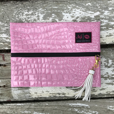 Makeup Junkie Bags - Blush (Black Interior)