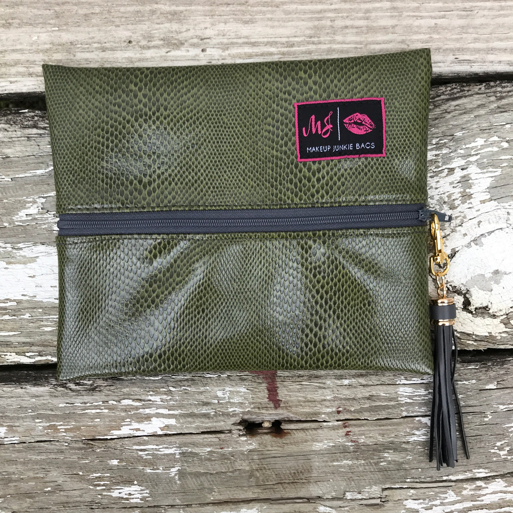 Serpentine Makeup Junkie Bag
