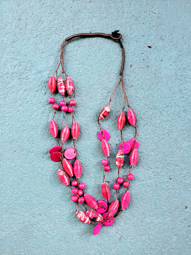 Regalia Necklace in Pink Rose