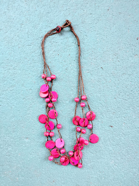 Beautifully Brazen Necklace in Cerise Pink