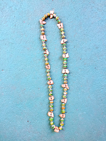 Bliss Necklace in Green and Shell