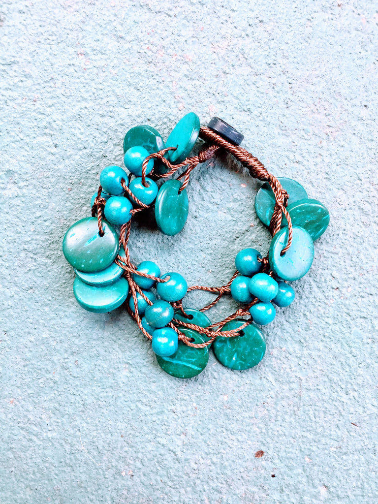 Beautifully Brazen Bracelet in Cyan