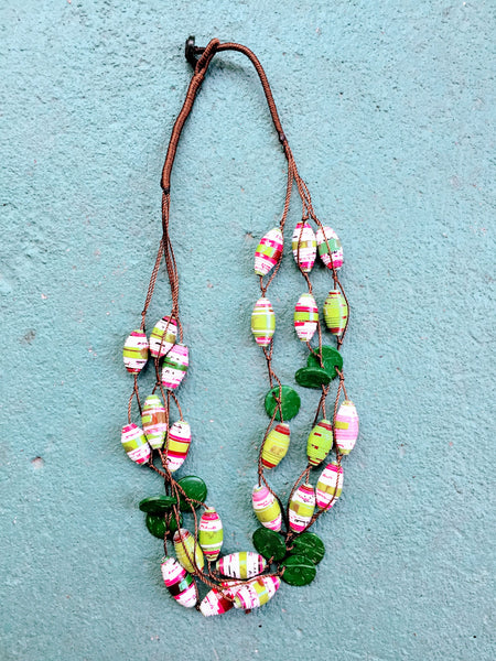 Freedom Necklace in Fiesta Pink