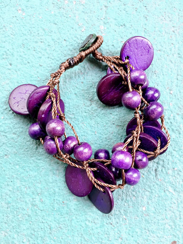 Beautifully Brazen Bracelet in Deep Violet
