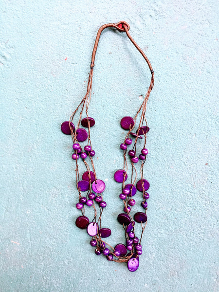 Beautifully Brazen Necklace in Deep Violet