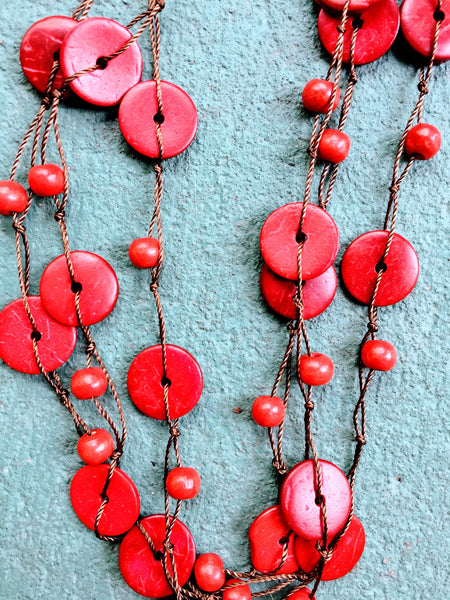 Beautifully Brazen Necklace in Crimson