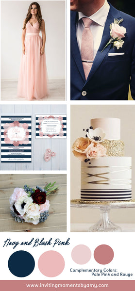 Wedding Color Trend Alert | Summer 2017 | Timeless Navy and Blush Pink