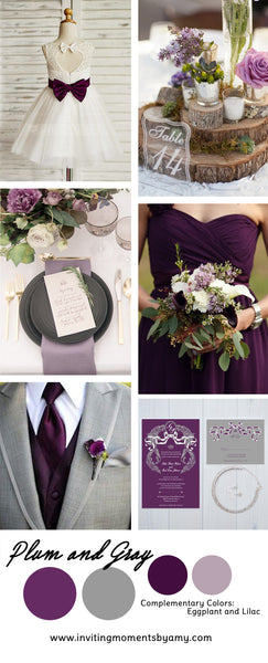Wedding Color Trend Alert | Fall 2017 | Plum and Gray