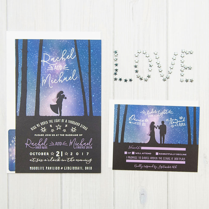 Galaxy Wedding Invitation Set