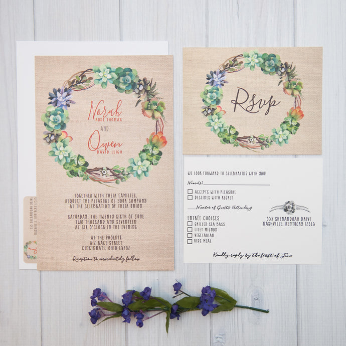 So Succulent Wedding Invitations