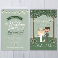 Pit Bull Dog Wedding Invitation Set