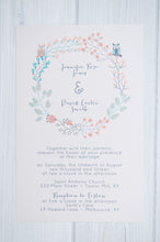 Boho Owl Wedding Invitation Set
