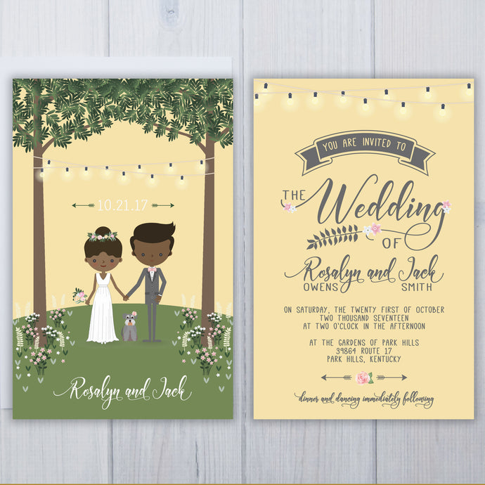 Schnauzer Dog Wedding Invitation Set