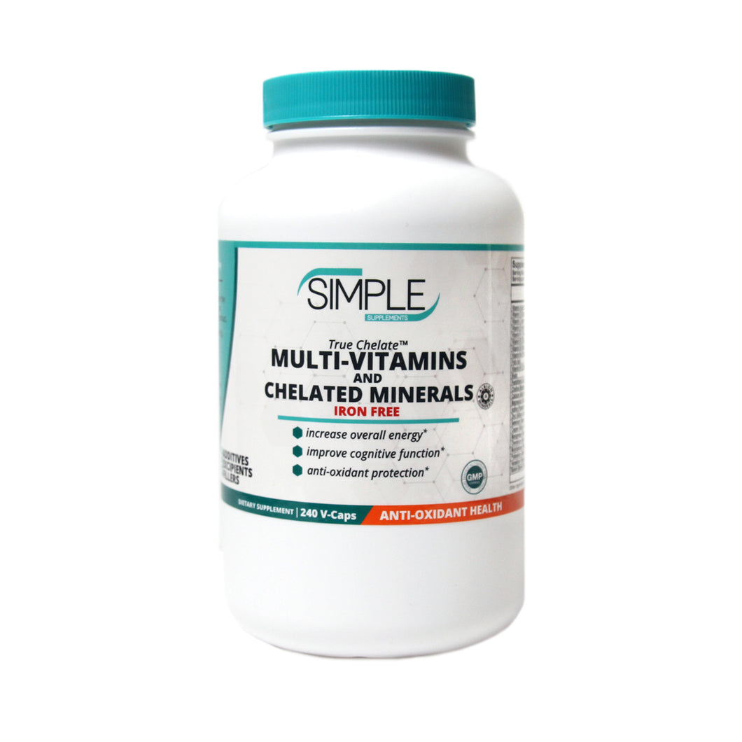 IRON FREE Multi-Vitamin with Chelated Minerals