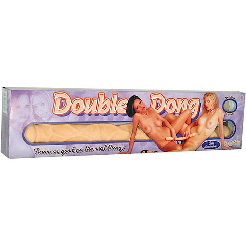 REAL SKIN DOUBLE DONG-FLESH - Red Rose Toys