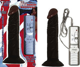 ALL AMERICAN STRAIGHT VIBRATING WHOPPER DILDO - Red Rose Toys