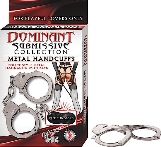 DOMINANT SUBMISSIVE METAL HANDCUFFS-METAL - Red Rose Toys