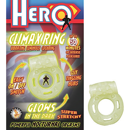 HERO CLIMAX RING-GLOW IN THE DARK - Red Rose Toys
