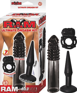 RAM ULTIMATE ORGASM KIT-BLACK - Red Rose Toys